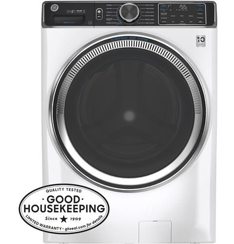 GE® 5.0 cu. ft. Capacity Smart Front Load ENERGY STAR® Steam Washer with SmartDispense™ UltraFresh Vent System with OdorBlock™– Model #: GFW850SSNWW