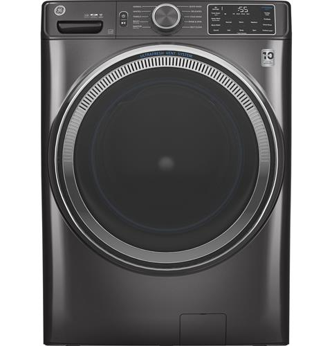 GE® 4.8 cu. ft. Capacity Smart Front Load ENERGY STAR® Washer with UltraFresh Vent System with OdorBlock™– Model #: GFW550SPNDG