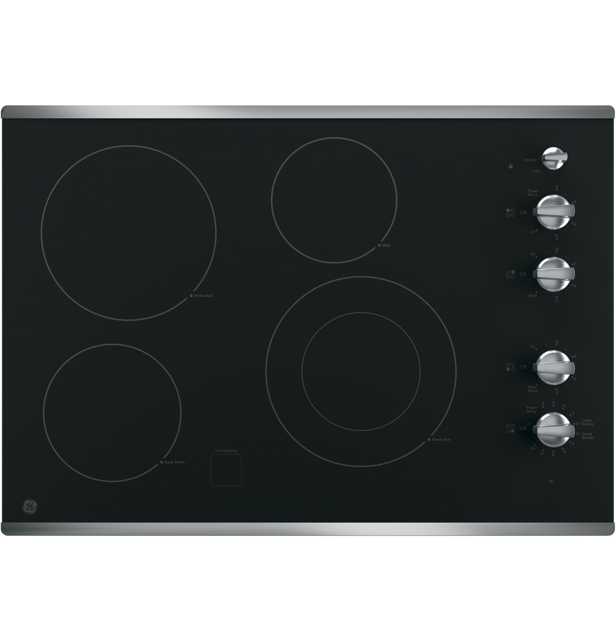 Ge 30 Built In Knob Control Electric Cooktop Jp3530sjss Wiring Diagram 240v Product Image