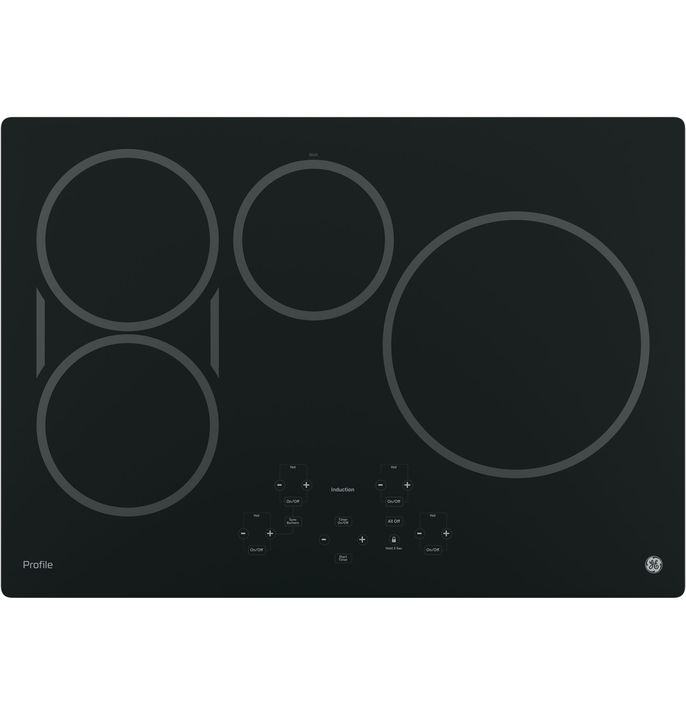 """GE Profile™ Series 30"""" Built-In Touch Control Induction Cooktop PHP9030DJBB"""
