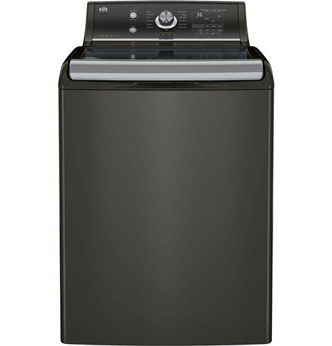 GE® 5.1 DOE cu. ft. capacity washer with stainless steel basket– Model #: GTW810SPJMC