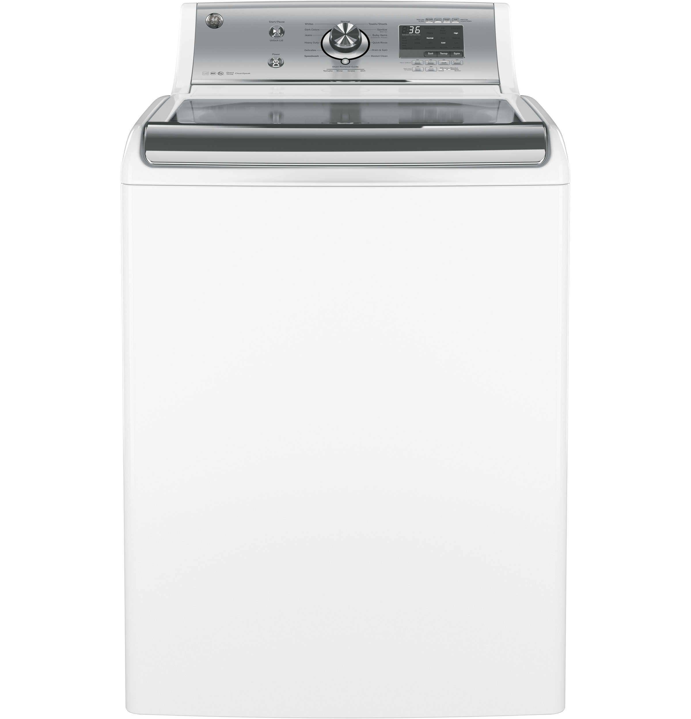 Ge 174 5 1 Doe Cu Ft Capacity Washer With Stainless Steel