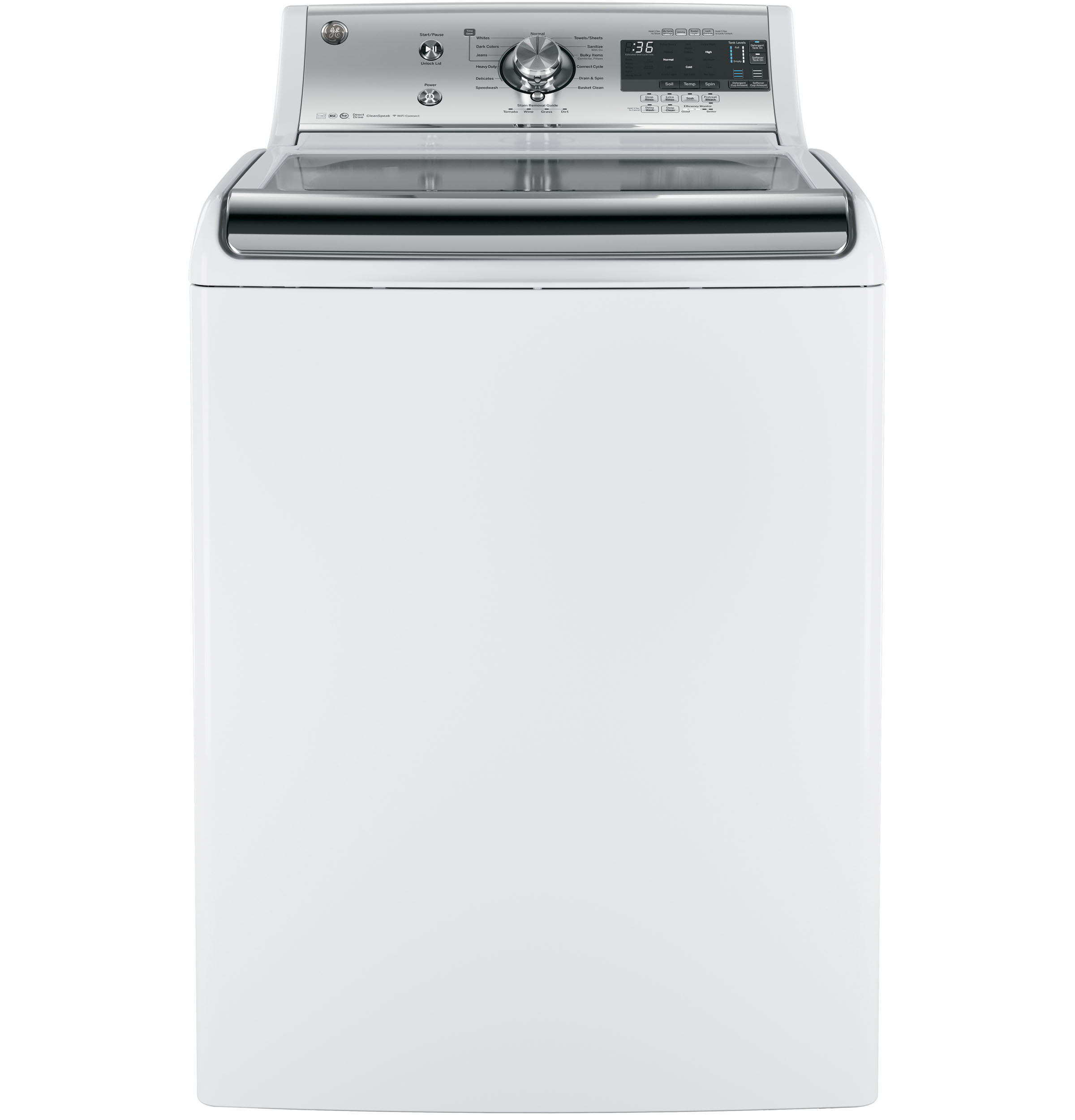 Ge 51 Doe Cu Ft Capacity Washer With Smartdispense Technology General Washing Machine Wiring Diagram Free Download Product Image