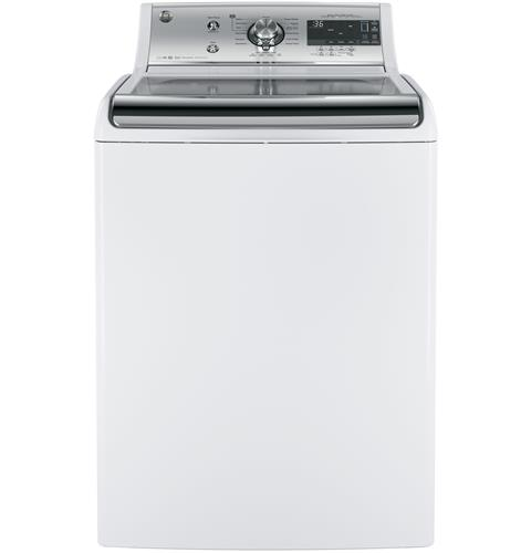 GE® 5.1 DOE cu. ft. capacity washer with SmartDispense™ Technology– Model #: GTW860SSJWS
