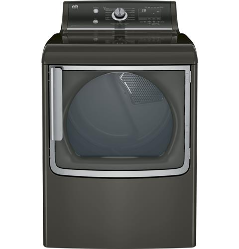 GE® 7.8 cu. ft. capacity gas dryer with stainless steel drum and steam– Model #: GTD86GSPJMC