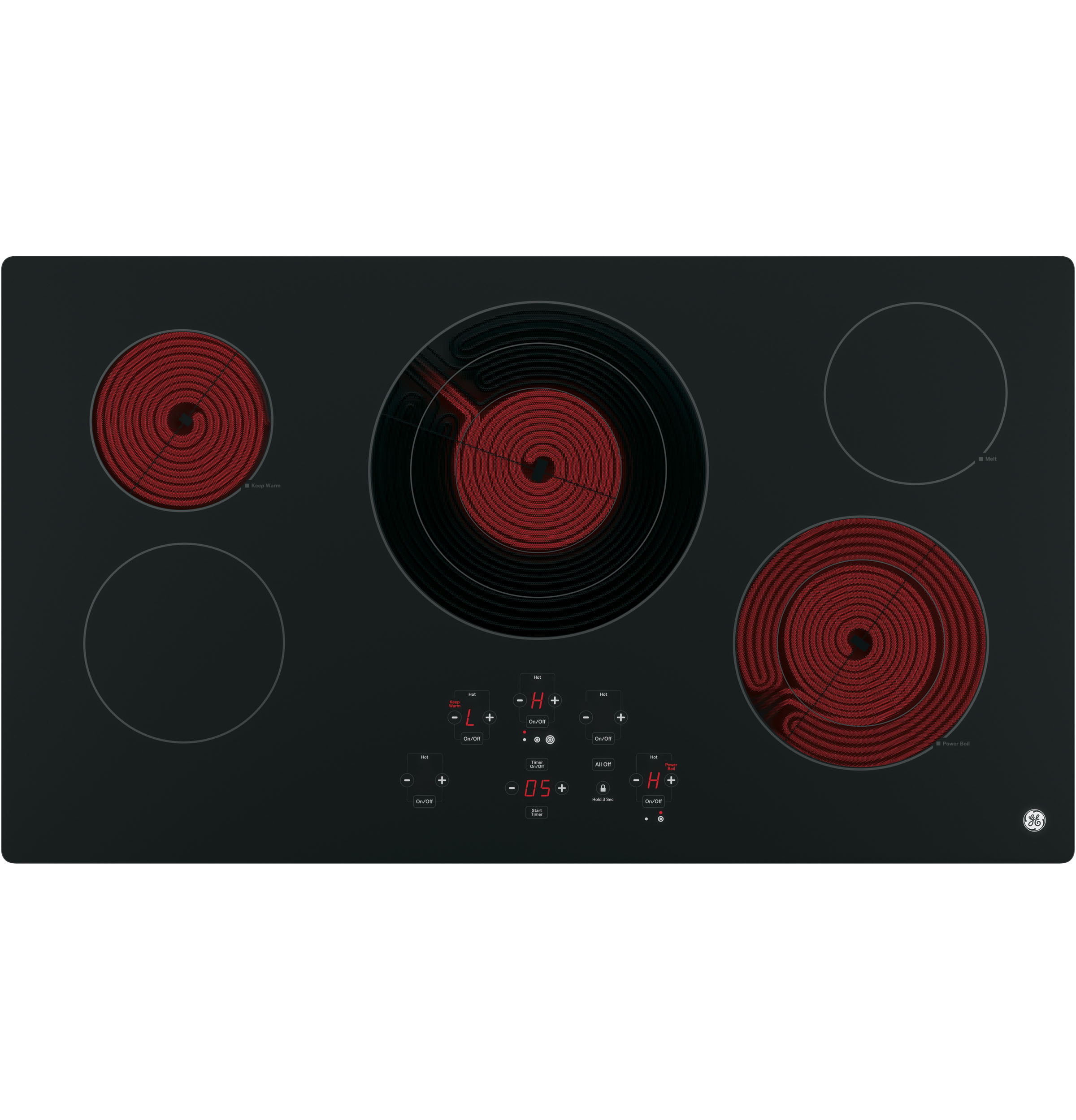 Ge 36 Built In Touch Control Electric Cooktop Jp5036djbb 4 Wire Range Schematic Wiring Diagram 1 Of