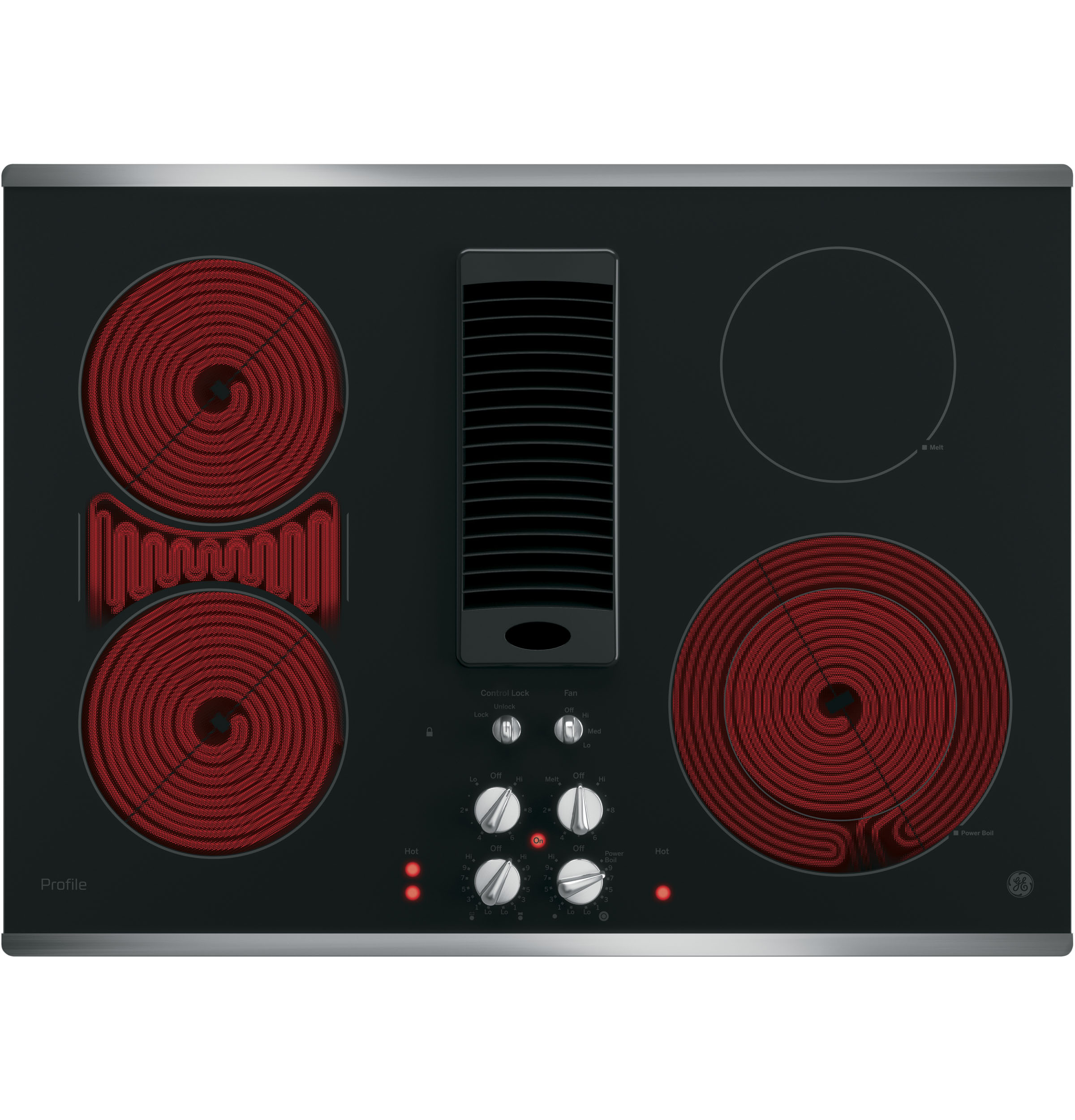 Ge Profile 30 Quot Downdraft Electric Cooktop Pp9830sjss