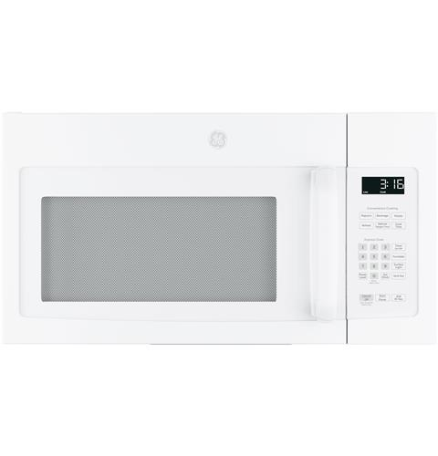 GE® 1.6 Cu. Ft. Over-the-Range Microwave Oven with Recirculating Venting– Model #: JNM3163DJWW