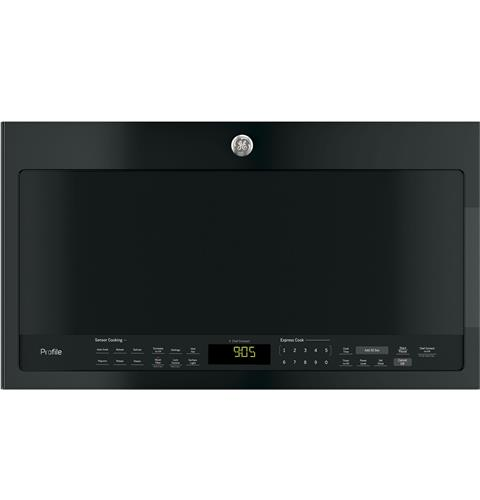 GE Profile™ Series 2.1 Cu. Ft. Over-the-Range Sensor Microwave Oven– Model #: PVM9005DJBB