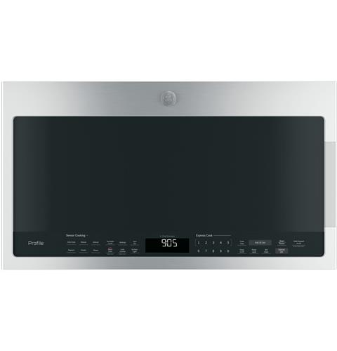 GE Profile™ Series 2.1 Cu. Ft. Over-the-Range Sensor Microwave Oven– Model #: PVM9005SJSS