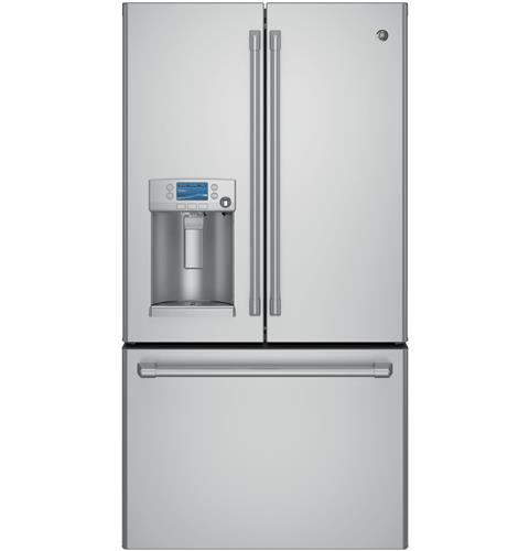 GE Café™ Series ENERGY STAR® 22.2 Cu. Ft. Counter-Depth French-Door Refrigerator with Keurig® K-Cup® Brewing System– Model #: CYE22USHSS