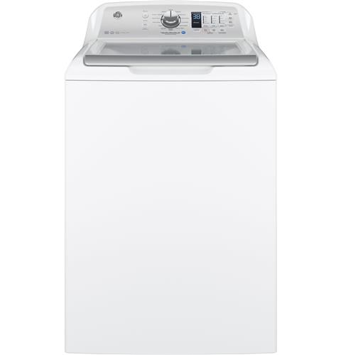 GE® 4.5 DOE  cu. ft. Capacity Washer with Stainless Steel Basket– Model #: GTW685BSLWS