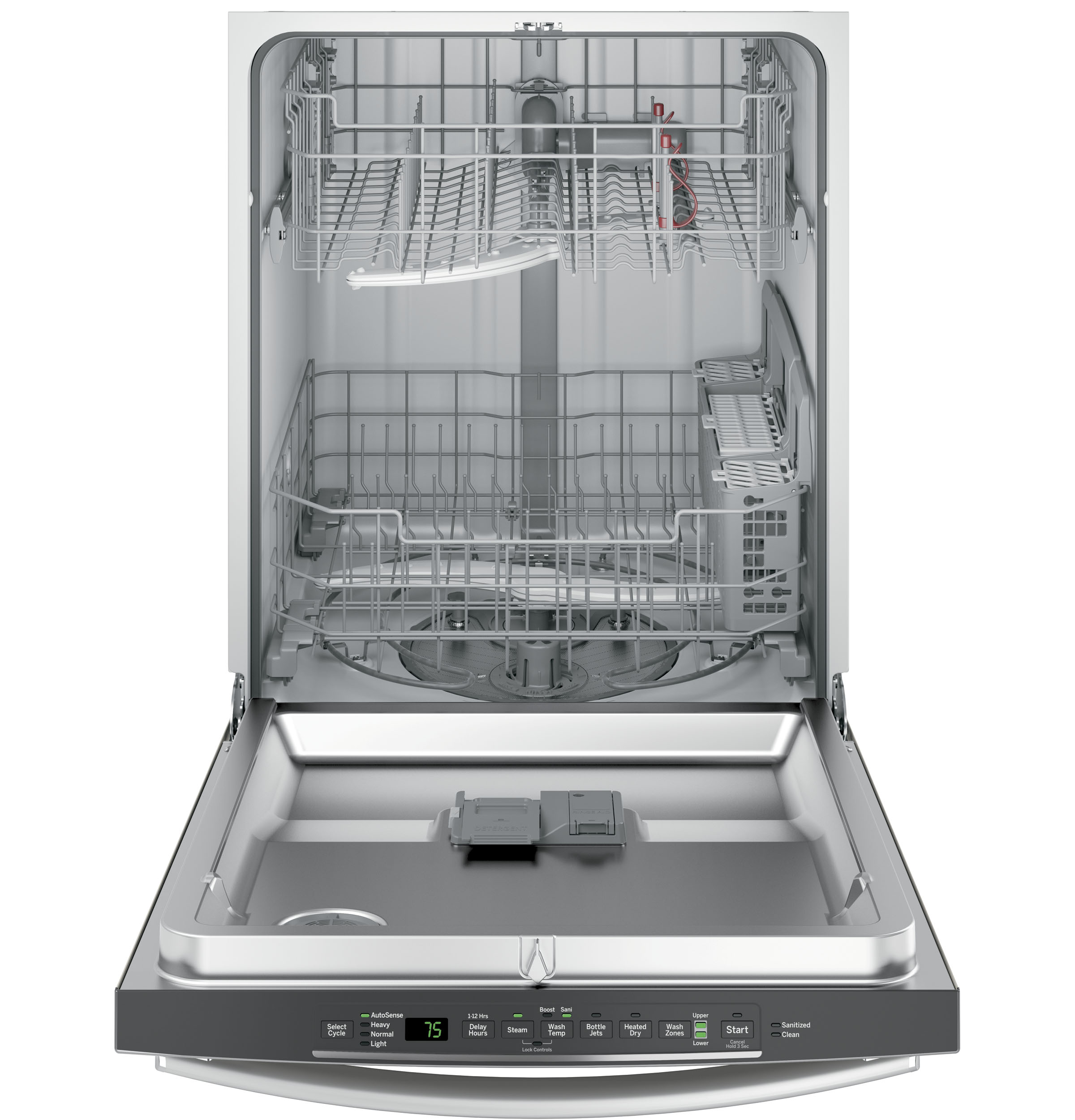 How To Clean The Inside Of A Stainless Steel Dishwasher Gear Hybrid Stainless Steel Interior Dishwasher With Hidden
