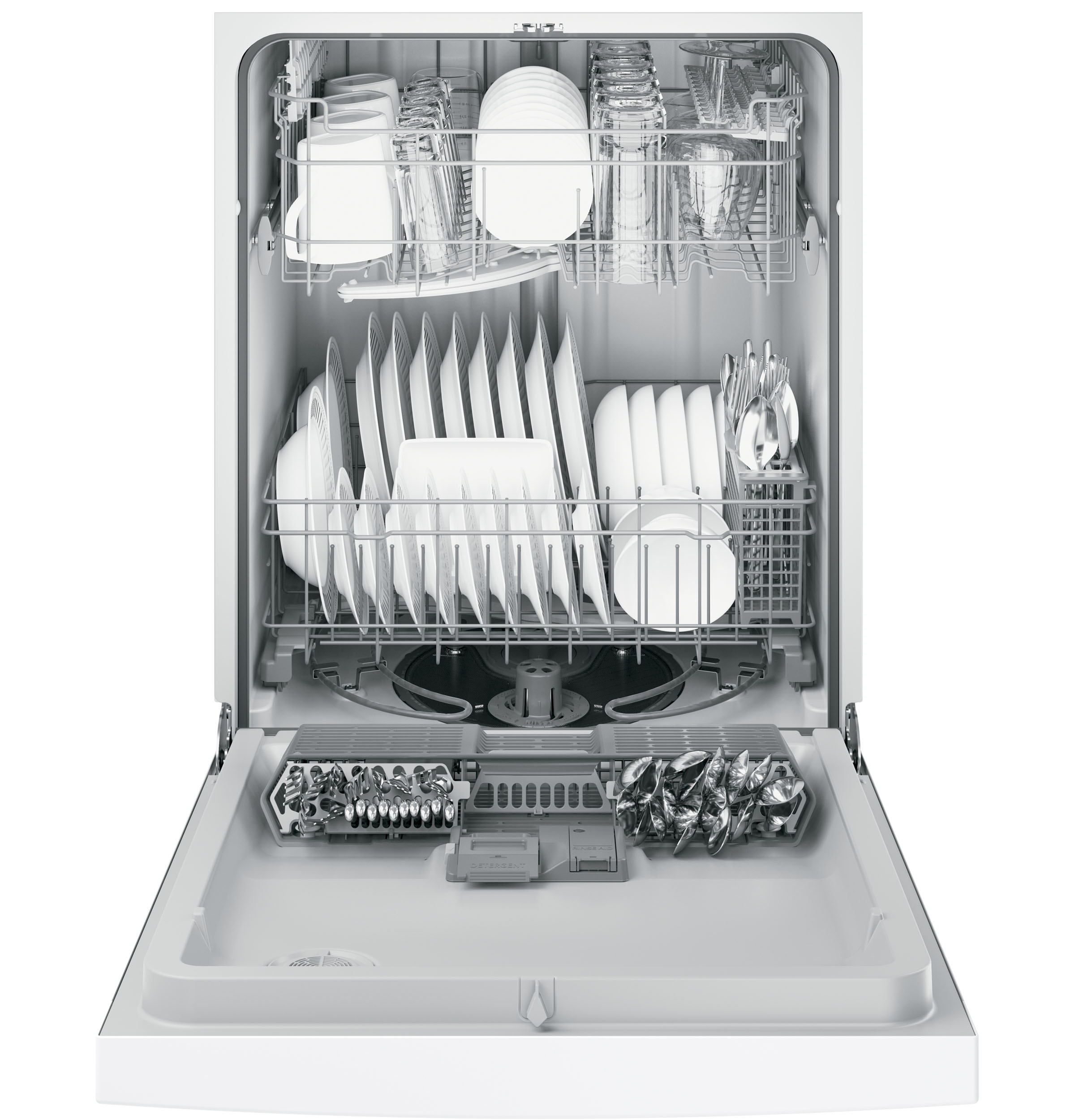 Ge Dishwasher With Front Controls Gdf520pgjww Ge Appliances