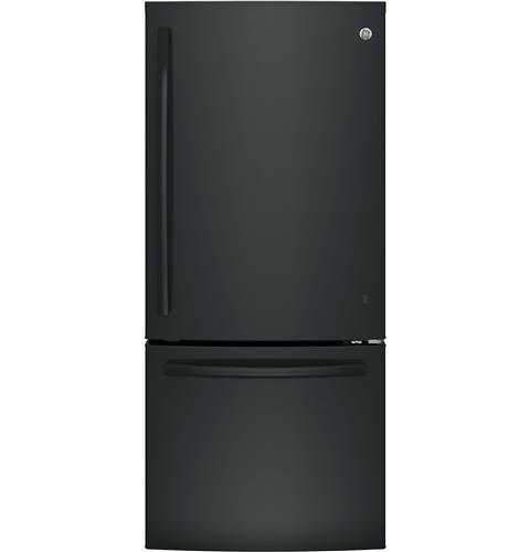 GE® ENERGY STAR® 21.0 Cu. Ft. Bottom-Freezer Refrigerator– Model #: GDE21EGKBB