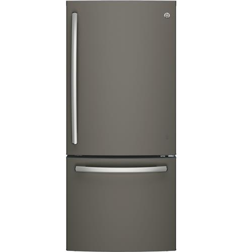 GE® ENERGY STAR® 20.9 Cu. Ft. Bottom Freezer Refrigerator– Model #: GDE21EMKES