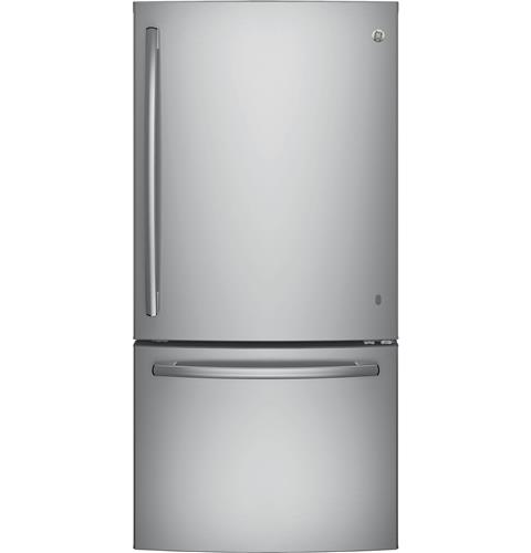 GE® ENERGY STAR® 24.9 Cu. Ft. Bottom-Freezer Drawer Refrigerator– Model #: GDE25ESKSS