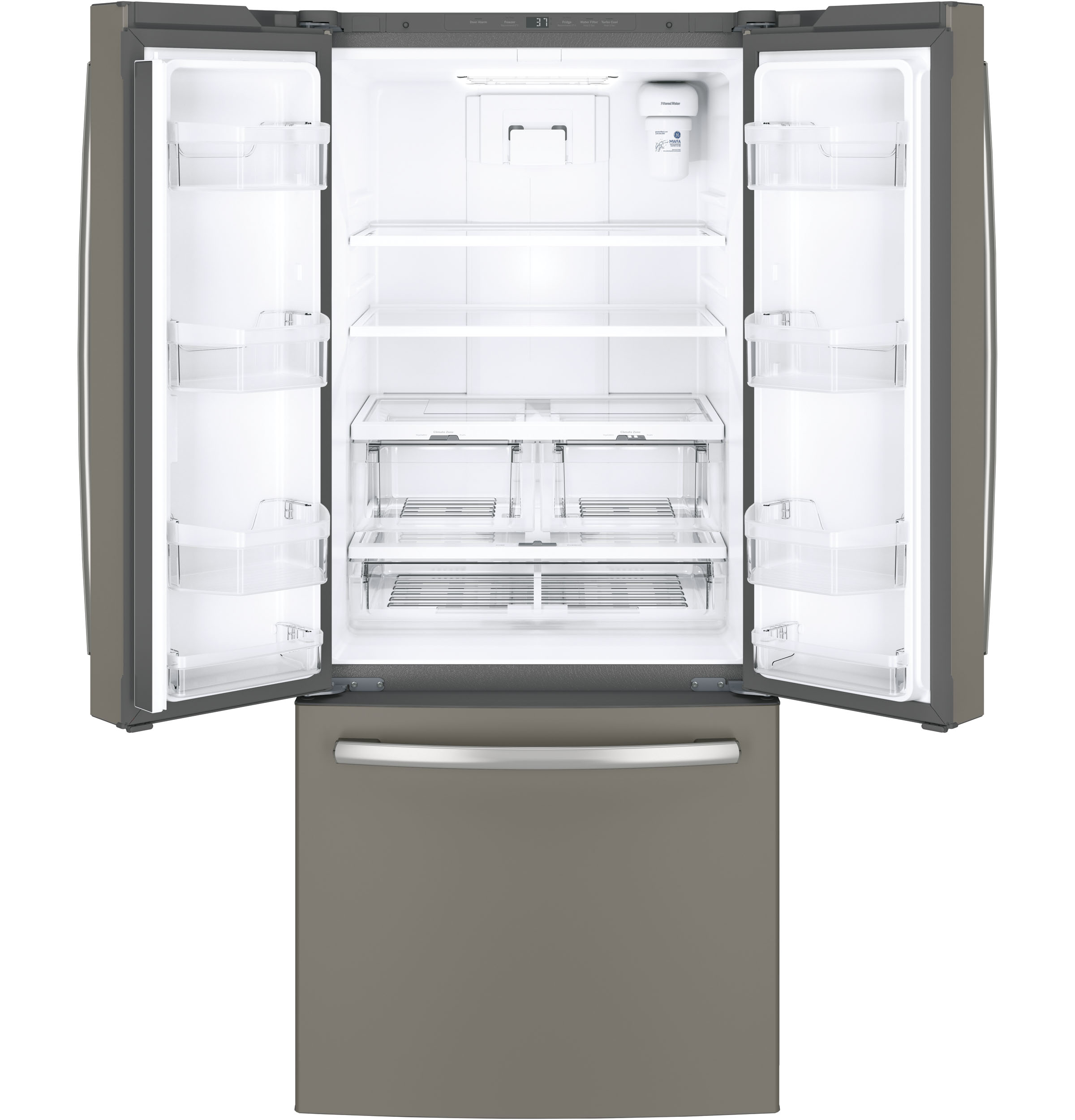 Ge Energy Star 208 Cu Ft French Door Refrigerator Gne21fmkes