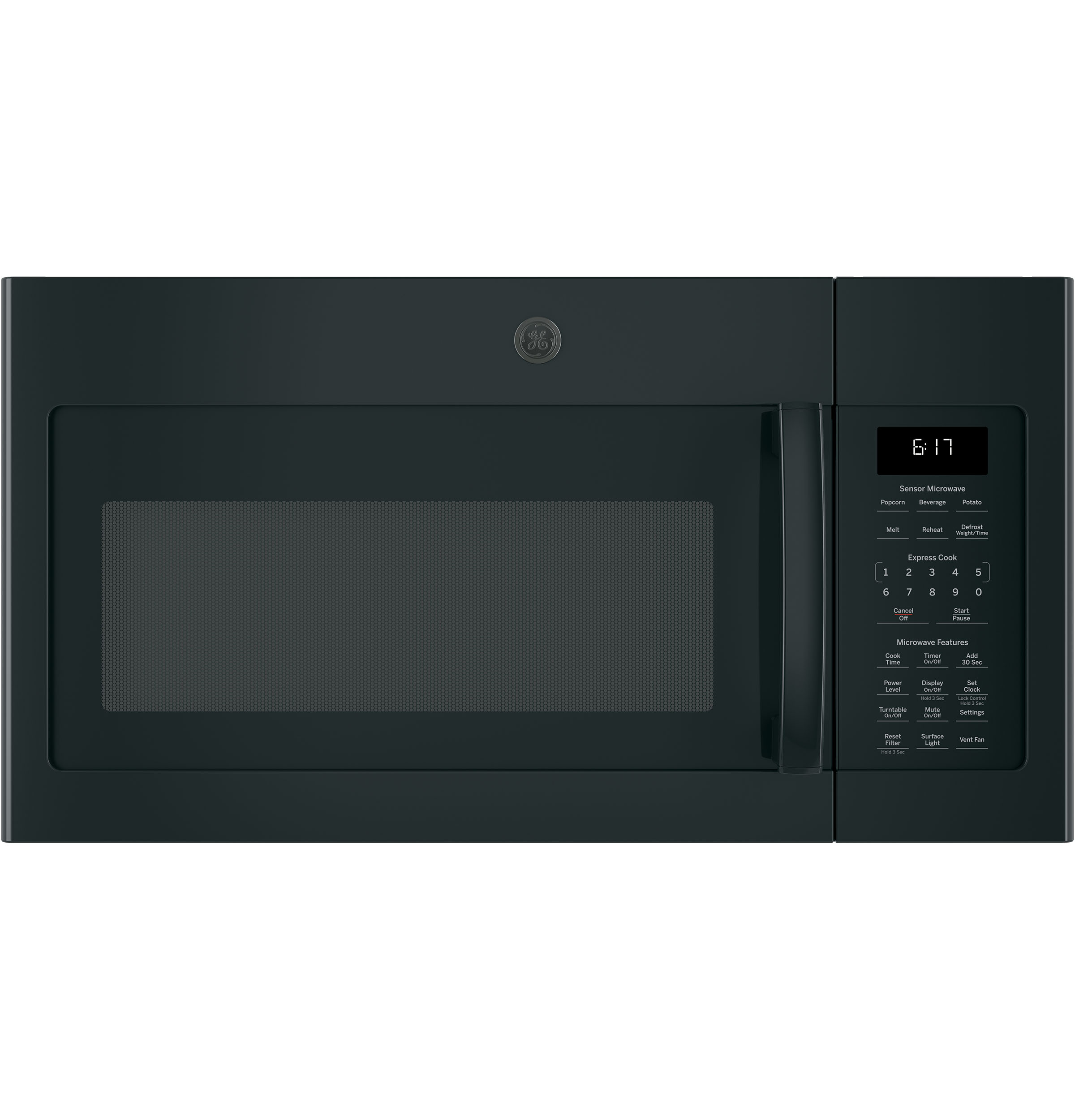 GE® 1 7 Cu  Ft  Over-the-Range Sensor Microwave Oven | JVM6175DKBB