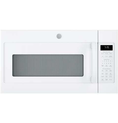 GE® 1.9 Cu. Ft. Over-the-Range Sensor Microwave Oven with Recirculating Venting– Model #: JNM7196DKWW