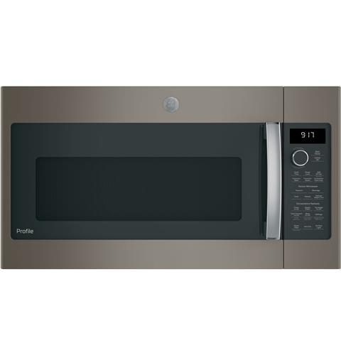 GE Profile™ Series 1.7 Cu. Ft. Convection Over-the-Range Microwave Oven– Model #: PVM9179EKES