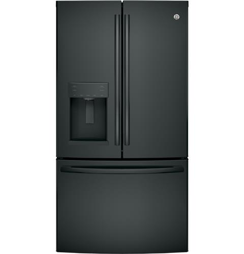 GE® ENERGY STAR® 27.8 Cu. Ft. French-Door Refrigerator– Model #: GFE28GGKBB