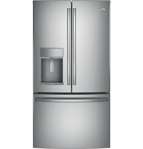 GE Profile™ Series ENERGY STAR® 27.8 Cu. Ft. French-Door Refrigerator with Hands-Free AutoFill– Model #: PFE28KSKSS