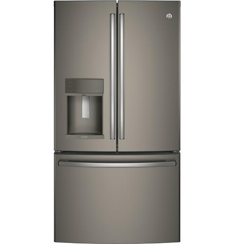 GE Profile™ Series ENERGY STAR® 22.2 Cu. Ft. Counter-Depth French-Door Refrigerator with Hands-Free AutoFill– Model #: PYE22KMKES