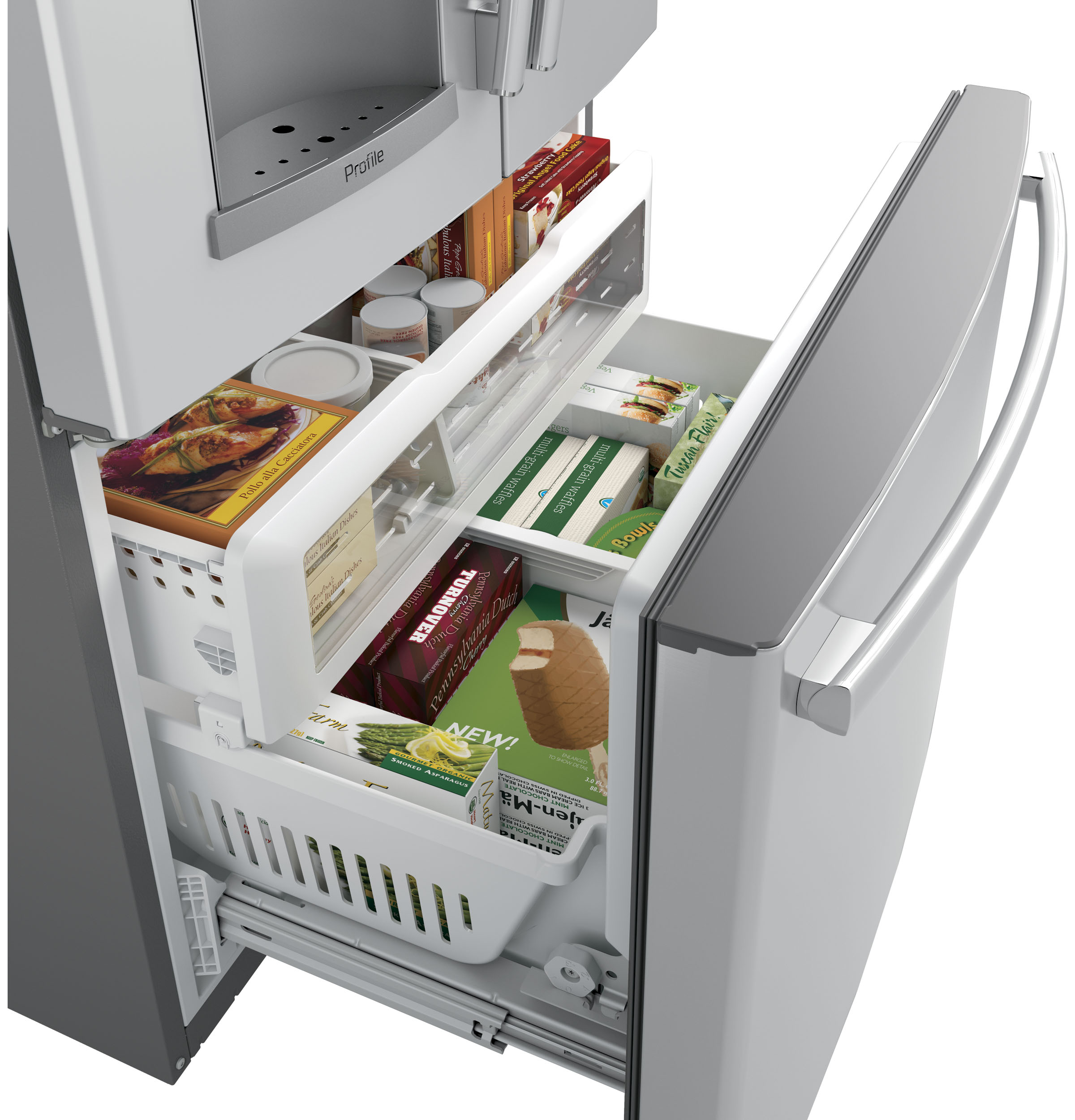 GE Profile™ Series 27 8 Cu  Ft  French-Door Refrigerator with Door