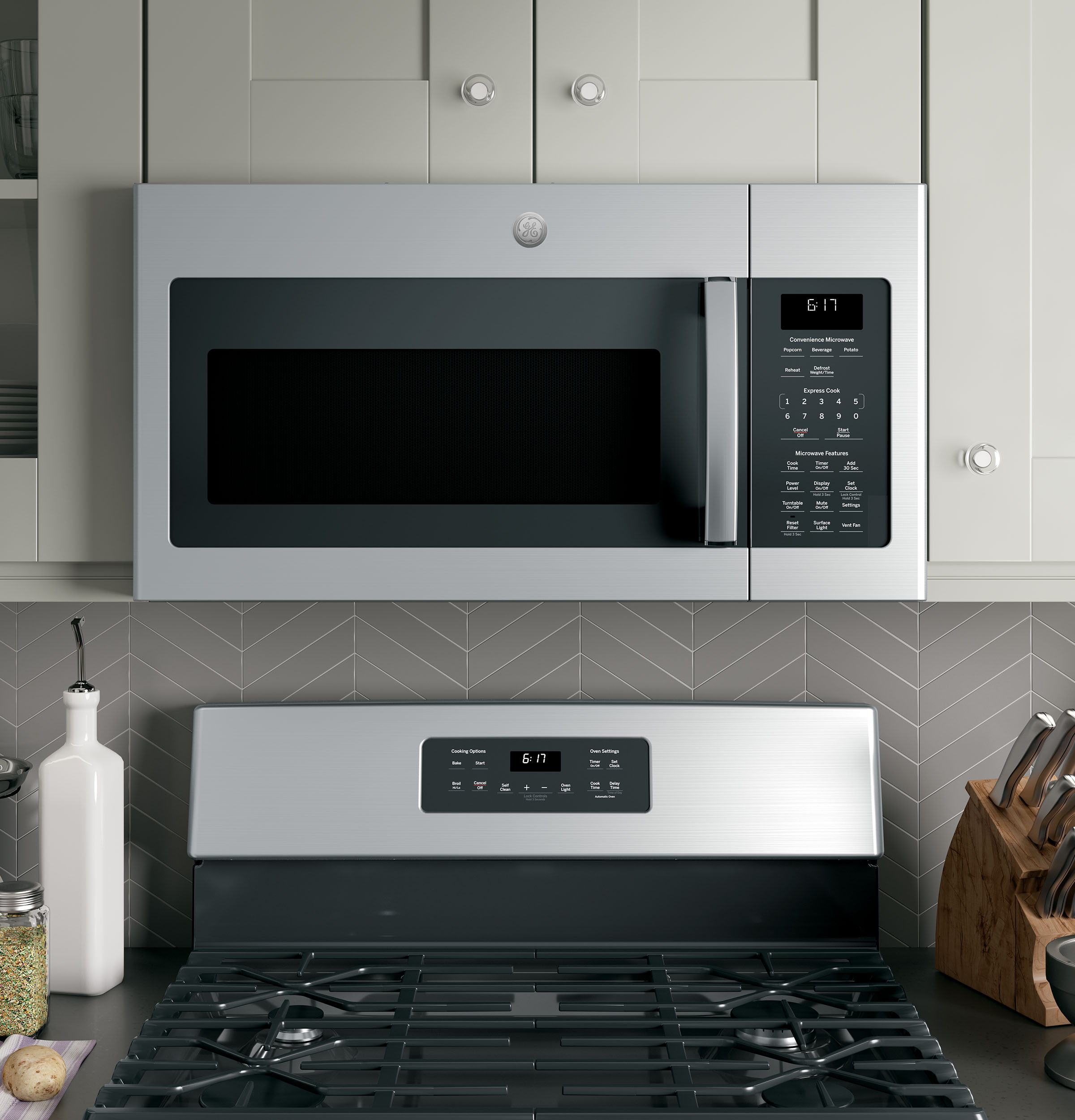 Ge 1 7 Cu Ft Over The Range Microwave Oven Jvm6172skss