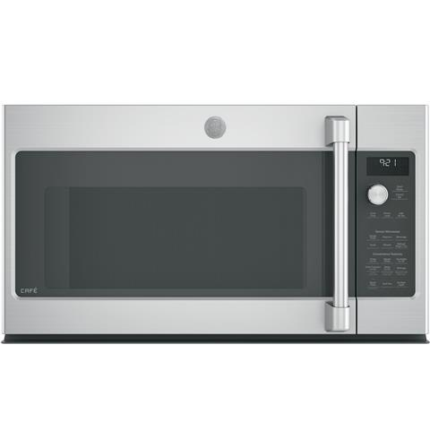 GE Café™ Series 2.1 Cu. Ft. Over-the-Range Microwave Oven– Model #: CVM9215SLSS