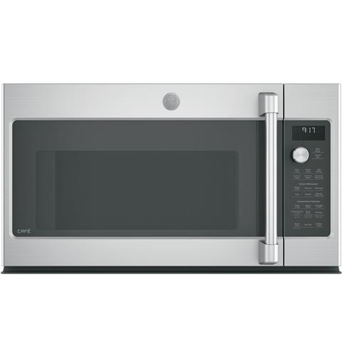 GE Café™ Series 1.7 Cu. Ft. Convection Over-the-Range Microwave Oven– Model #: CVM9179SLSS