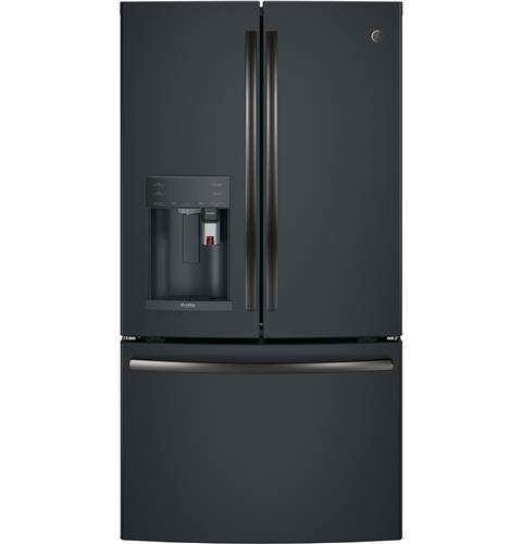 GE Profile™ Series ENERGY STAR® 22.2 Cu. Ft. Counter-Depth French-Door Refrigerator with Keurig® K-Cup® Brewing System– Model #: PYE22PELDS