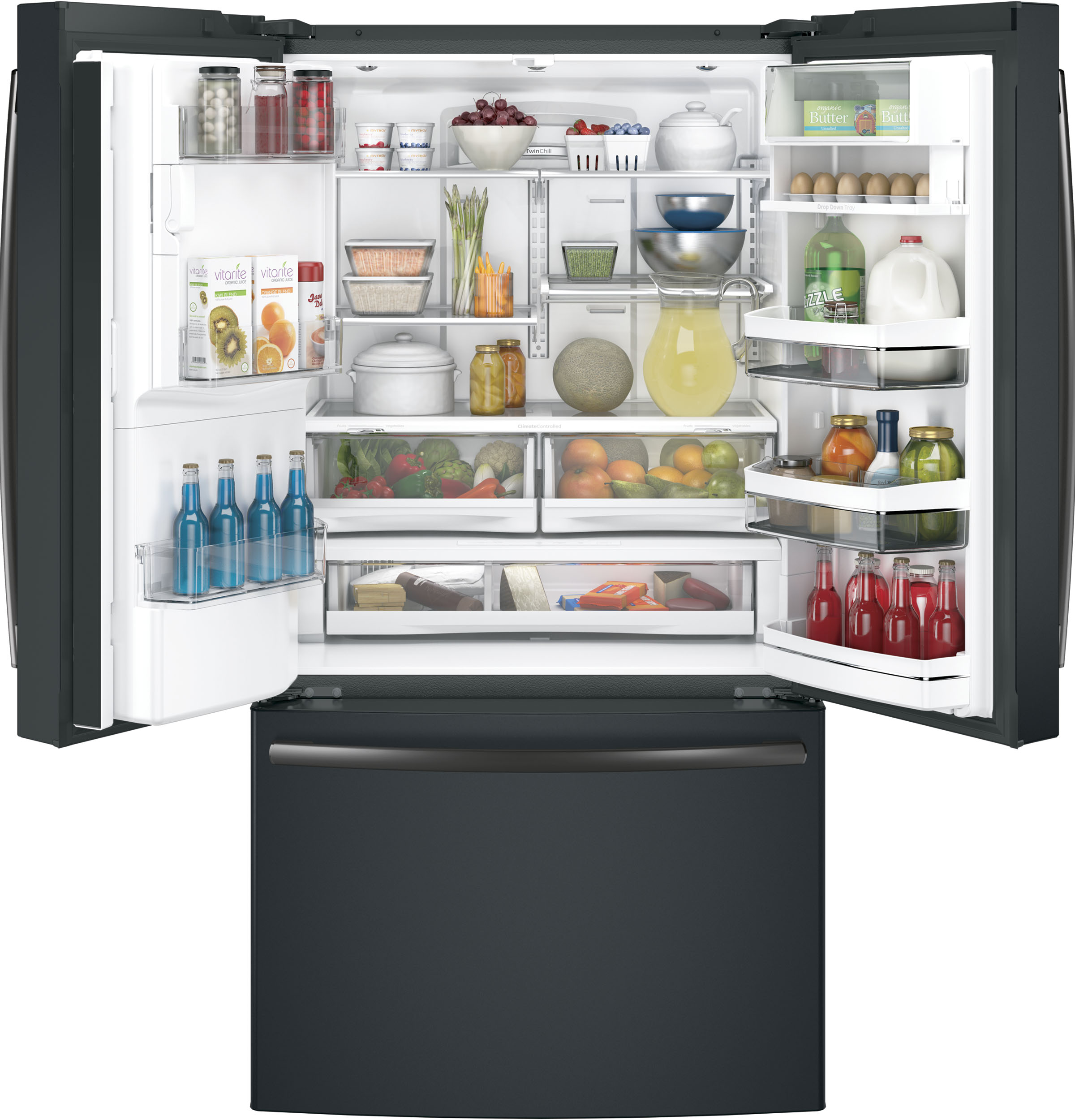 Ge Profile Series Energy Star 222 Cu Ft Counter Depth French Refrigerator Model 25 Schematic Product Image