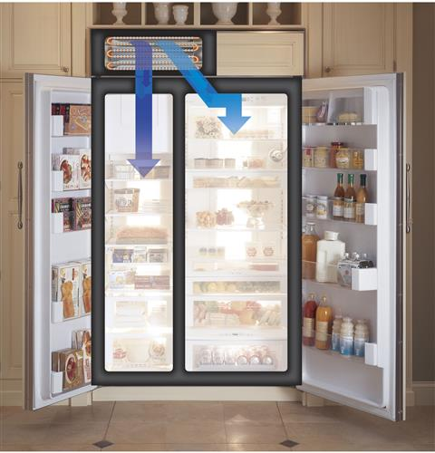 Ge Monogram 174 42 Quot Built In Side By Side Refrigerator With