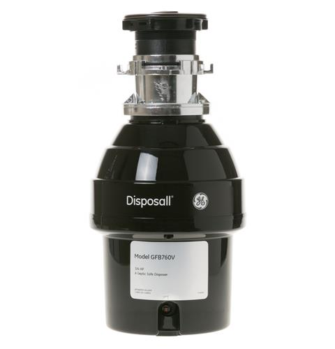 GE® 3/4 HP Batch Feed Garbage Disposer Non-Corded — Model #: GFB760V
