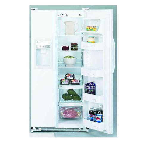 GE® 19.9 Cubic Foot Capacity Side by Side Refrigerator with Dispenser