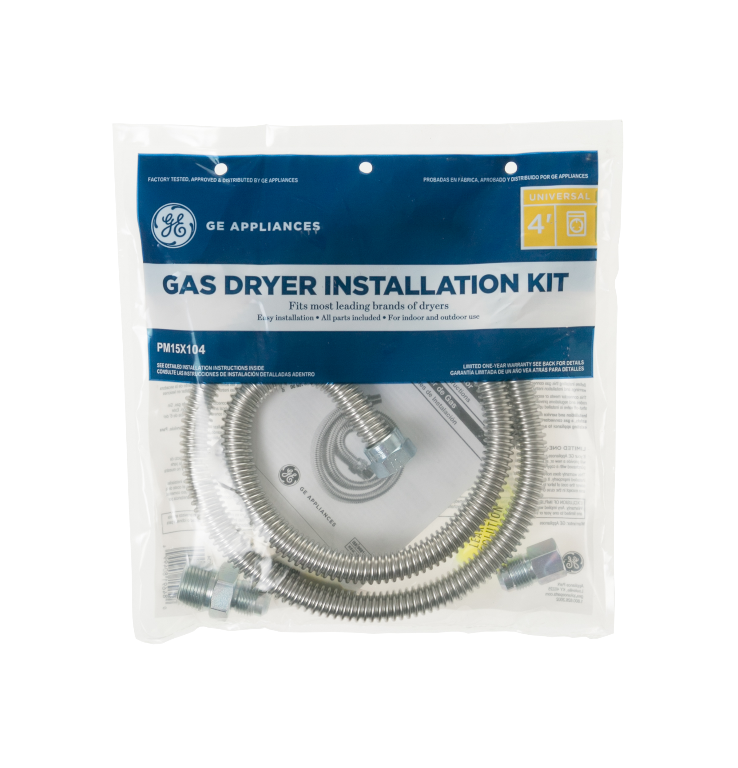 Ge Appliances Service Pm15x104 48 Universal Gas Dryer Install Kit Ge Parts Gas Dryer