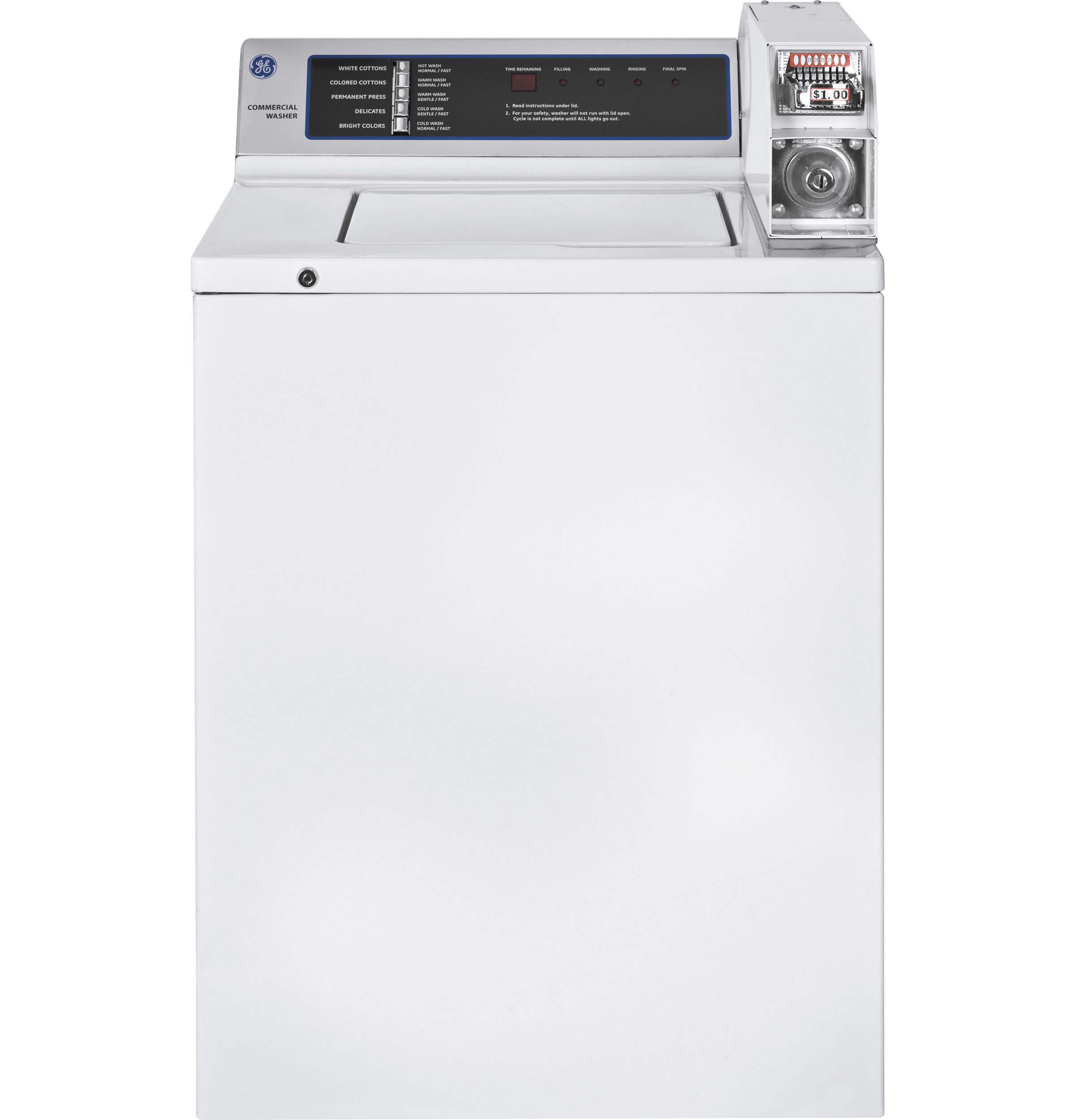 Ge 174 3 7 Doe Cu Ft Capacity Coin Operated Washer