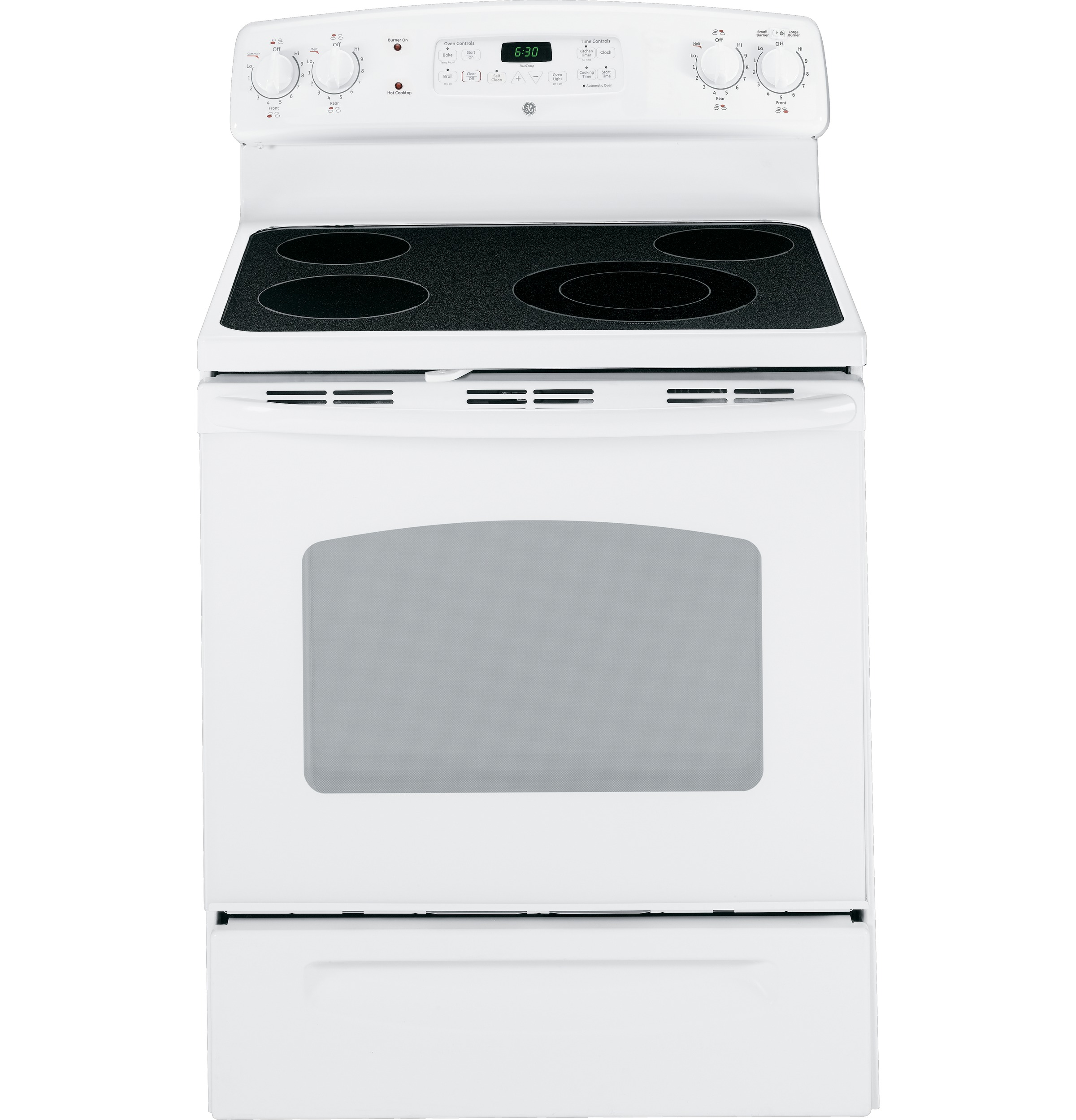 ge® 30 standing electric range jb640drww ge appliances product image product image