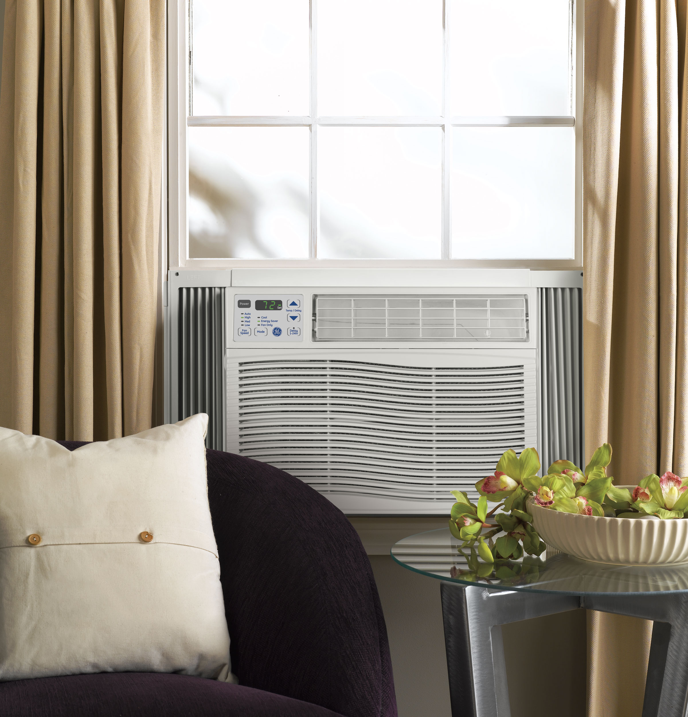 #8E9338 GE® 115 Volt Electronic Room Air Conditioner AEH08LQ  Reliable 14038 Single Room Air Conditioner No Window wallpaper with 2400x2500 px on helpvideos.info - Air Conditioners, Air Coolers and more