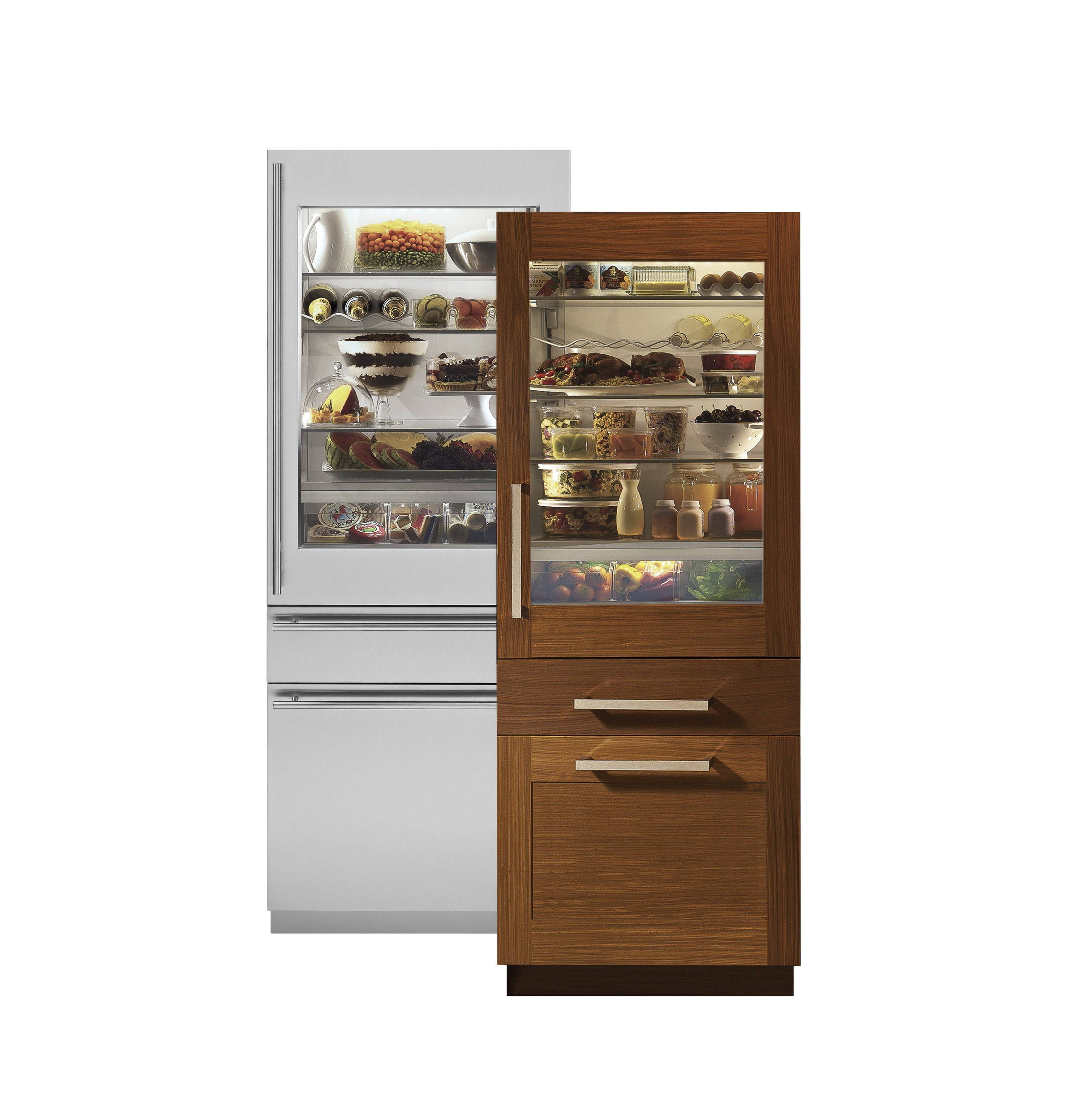Zik30gnhii Monogram 30 Integrated Gl Door Refrigerator For Single Or Dual Installation Liances