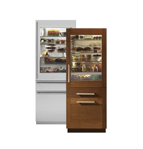 zik30gnhii monogram 30 integrated glass door refrigerator for single or dual installation monogram appliances - Refridgerator Glass Door