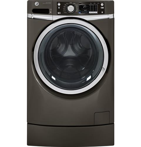 GE® ENERGY STAR® 4.5 DOE cu. ft. capacity RightHeight™ Design Front Load washer– Model #: GFWR2705HMC