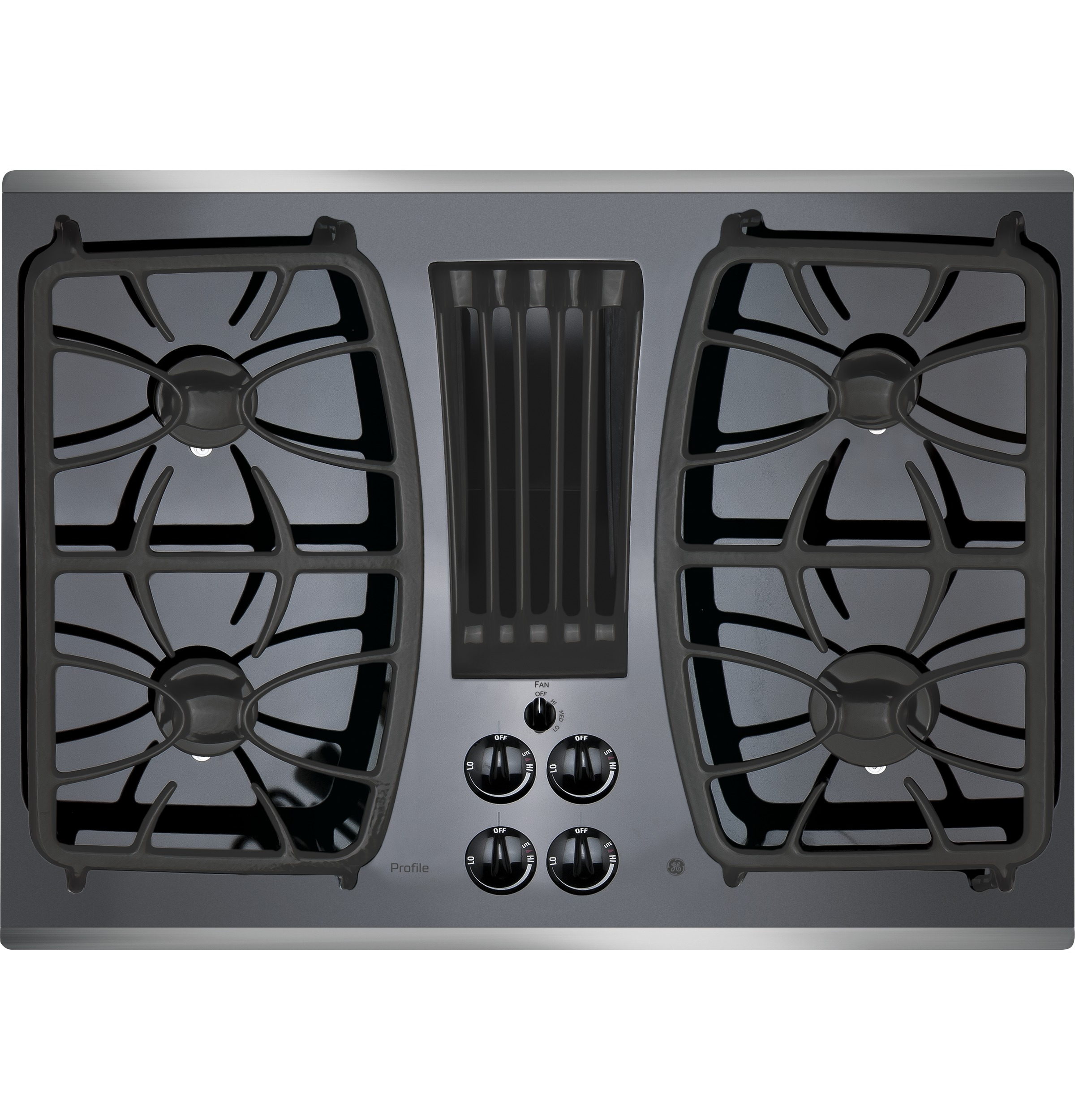 Built In Ge Cooktops ~ Ge profile™ series quot built in gas downdraft cooktop