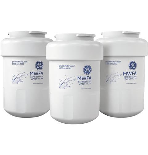 GE® REFRIGERATOR WATER FILTER 3-PACK — Model #: MWFA3PK