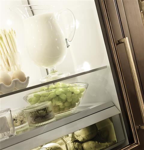 "Thumbnail of Monogram 30"" Integrated Glass-Door Refrigerator for Single or Dual Installation 10"