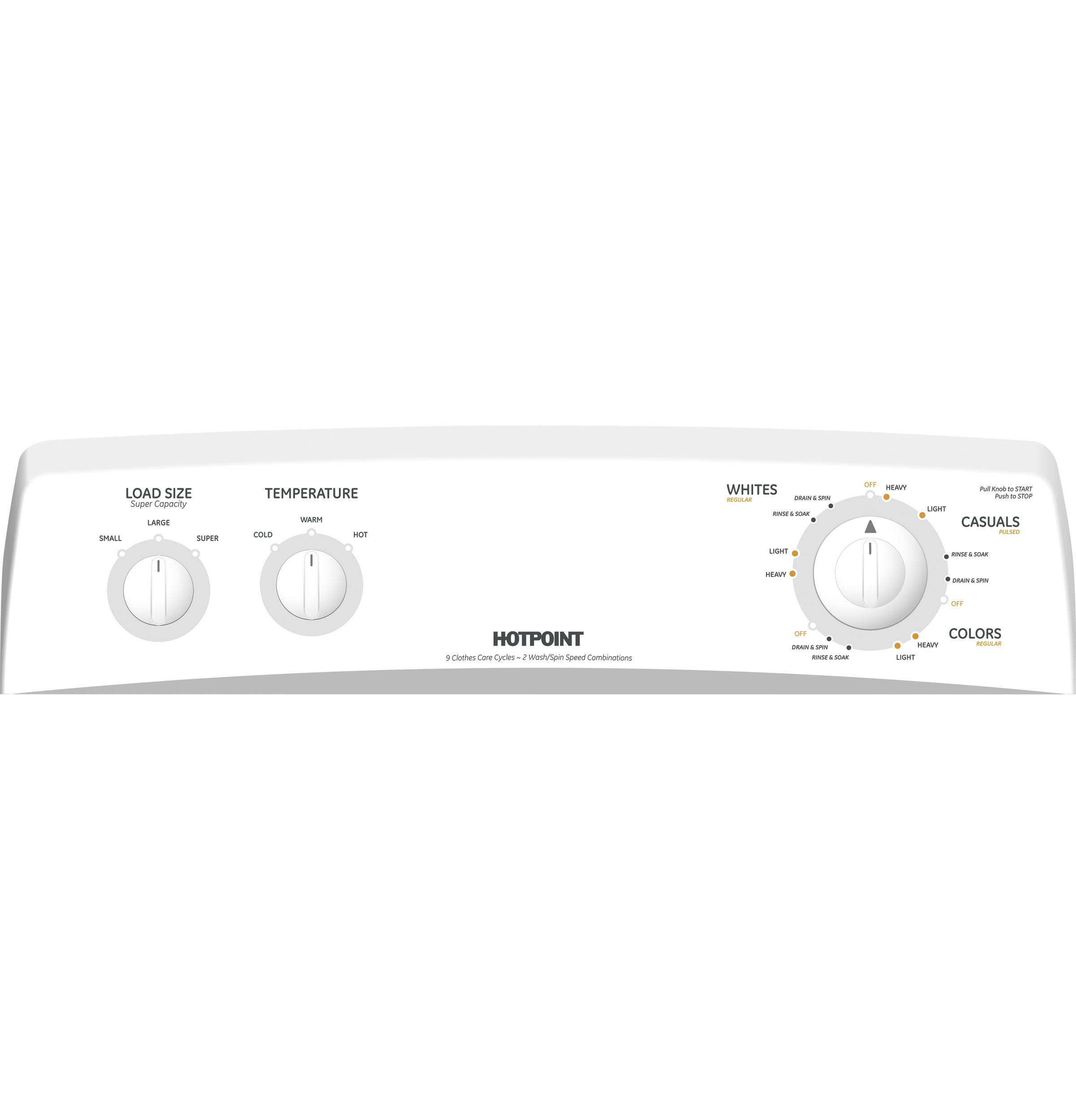 Hotpoint® 3.6 DOE cu. ft. capacity Extra Action ribbed