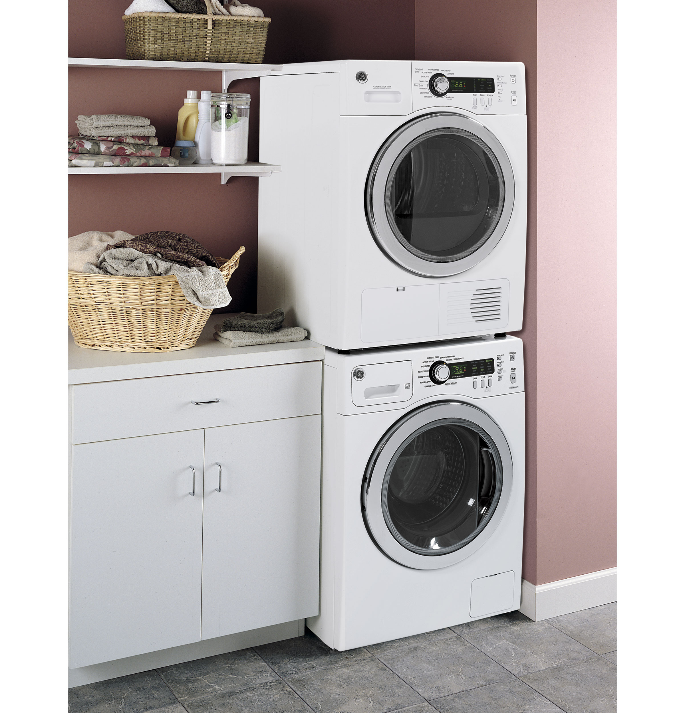 GE® 2.2 DOE Cu. Ft. Frontload Washer | WCVH4800KWW | GE Appliances
