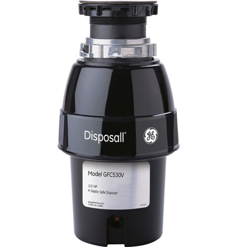 GE® 1/2 HP Continuous Feed Garbage Disposer Non-Corded — Model #: GFC530V
